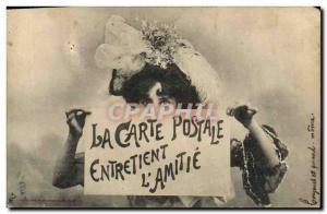 Old Postcard Postcards Postcard maintains the & # 39amiti