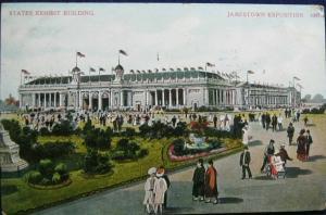 States Exhibit Building Jamestown Exposition 1910 A C Bosselman Pub