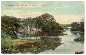 Stroudwater River and Canoe Club near Portland, Me.