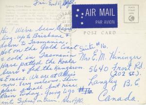 Sydney Opera House Australia AU Bennelong Point Cranes c1972 Vintage Postcard D3