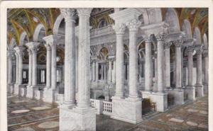 Hall Of Columns Library Of Congress Washington D C Curteich