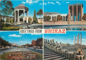 Postcard Iran greetings from Shiraz several aspects and sites