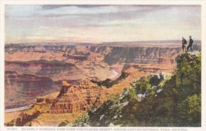 Fred Harvey Arizona Grand Canyon Early Morning View Over The Painted Desert D...
