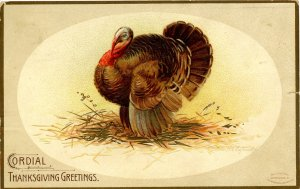 Greeting - Thanksgiving. Artist: Clapsaddle  (tear in card)