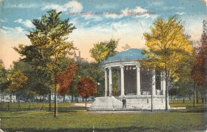 Boston Massachusetts~Young Man on Steps of Band Stand & Common~1914 Postcard