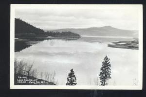 RPPC LAKE CHATCOLET IDAHO BY LEO 26-297 VINTAGE REAL PHOTO POSTCARD