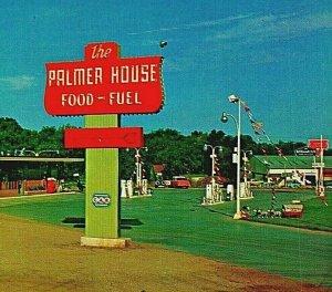 Palmer Casa Ristorante Conoco Stazione Sioux Falls SD Unp Vtg Cromo Cartolina
