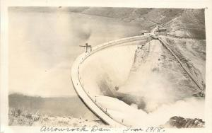 c1918 RPPC Postcard; Arrowrock Dam, Boise River ID Elmore / Boise County