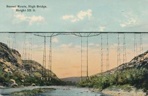 Sunset Route Railroad High Bridge - Pecos River, West Texas - DB