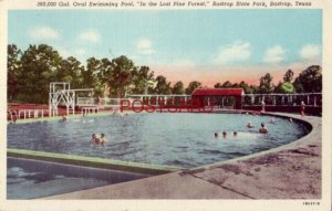 1945 SWIMMING POOL In the Lost Pine Forest, BASTROP STATE PARK, TEXAS