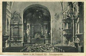 poland germany, KALISCH KALISZ, Reformatenkirche, Kriegszeit (1914) Postcard