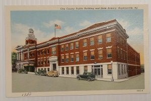 Postcard 1953 City County Public Building State Armory Hopkinsville Kentucky 293