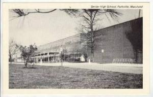 Senior High School (Exterior), Parkville, Maryland, 1900-1910s
