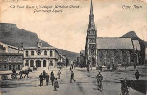 South Africa Cape Town Wesleyan Church Greenmarket street bikes postcard