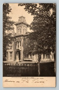 Green Castle IN-Indiana President's House Stately Mansion Vintage c1910 Postcard