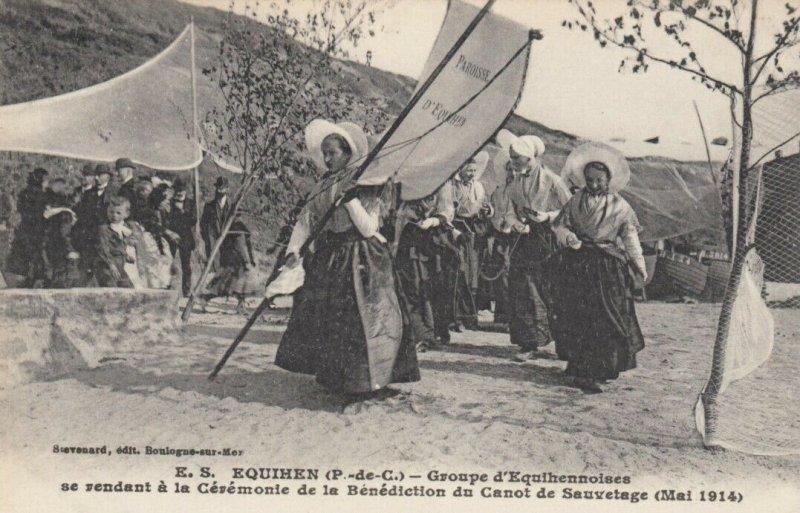 E.S. EQUIHEN, France , 1914 ; Groupe d'Equihennoises