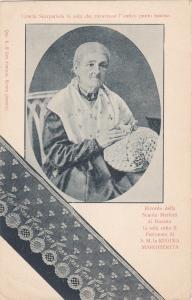 ITALY , 1901-07 ; Cencia Scarariola la sola she ricordasse l´antico punto famoso