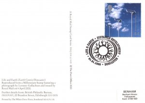Doncaster Earth Centre PHQ First Day Cover Stamp Frank Postcard