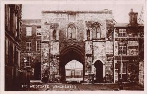 WINCHESTER HAMPSHIRE UK WESTGATE~WARRENS LIBRARY PHOTO  POSTCARD