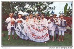 Conjunto Tipico Cajar Dancers in Republic of Panama, Pre-zip Code Chrome