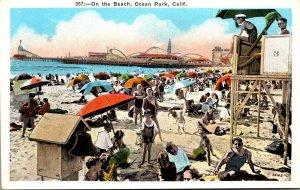 California Ocean Park Scene On The Beach