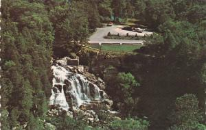 An aerial view of picturesque Inglis Falls on the beautiful Sydenham River,  ...