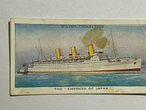CIGARETTE CARD - WILLS SPEED #39 THE EMPRESS OF JAPAN   (UU59)