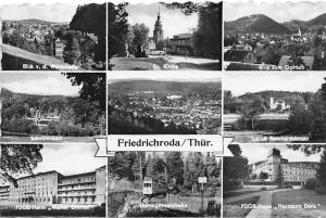 Friedrichroda Thuer, Ev. Kirche, Schloss Reinhardsbrunne, Thueringerwaldbahn