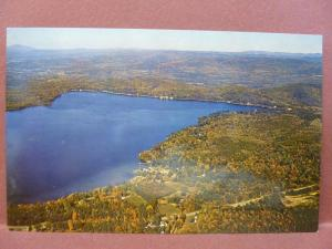 Old Postcard NH Spofford Aireview of Lake Spofford