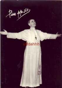 RPPC PIUS pp. XII arms outstretched in prayer