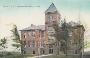 LINCOLN , Illinois , 1900-10s ; Chapel , I.O.O.F. Orphans Home