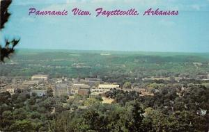 Fayetteville Arkansas~Panoramic View~Downtown City~1970s Postcard