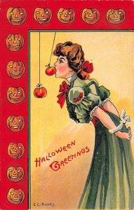 Artist E.C. Banks Halloween PU 1908 light wear