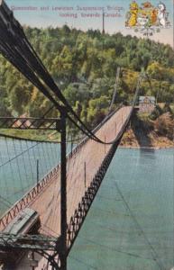 Queenstown and Lewiston Suspension Bridge Looking Towards Canada 1913