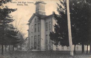 Canada Public and High School Elmira Ontario Postcard
