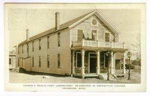 Edison's Menlo Park Laboratory Dearborn, Michigan, Artcraft Photo PPC