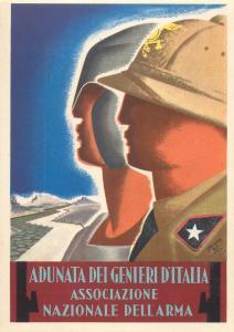 RETROSI signed ADUNATA DEI GENIERI D`ITALIA Italy military