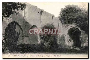Postcard Old Champlieu Oise Nef Ruins of the Church