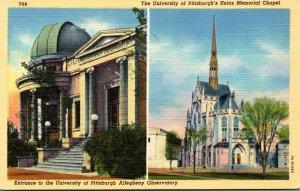 Pennsylvania Pittsburgh Allegheny Observatory Entrance & Heinz Memorial Chape...