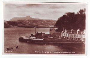 P1303 vintage RPPC unused loch nevis portree harbour skye scotland