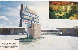 Louisiana Vidalia Shamrock Motor Hotel & Restaurant Interior View Dexter Press