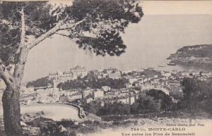 Monaco Monte Carlo Vue entre les Pins de Beausoleil