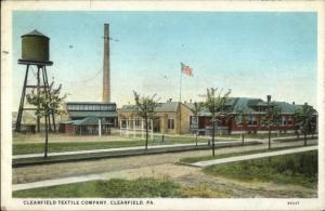 Clearfield PA Textile Co c1920 Postcard