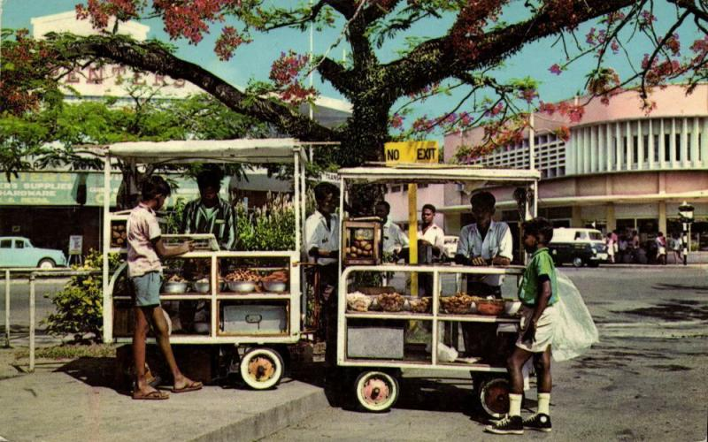 fiji islands, SUVA ?, Sweet Meat Vendors, Penter's Hardware 1960s Stinsons 1130