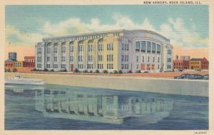 ROCK ISLAND, Illinois, 1938; New Armory