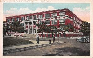 Roosevelt Jr. High School, New Brunswick, N. J., Early Postcard, Unused