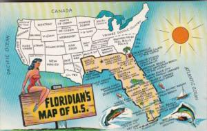 Floridian's Map Of The United States