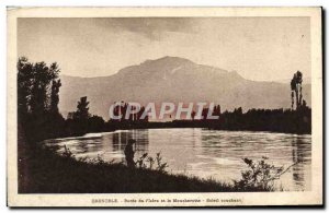 Old Postcard Grenoble edges of & # 39Isere and Sunset Moucherotte