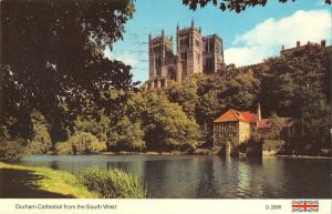 B101352 durham cathedral from the south west  uk 14x9cm
