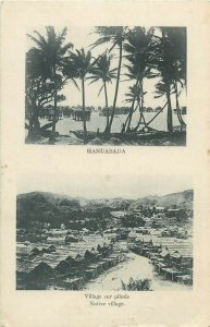 New Caledonia Papua New Guinea HANUABADA native village on stilts Oceania